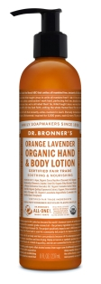 Dr Bronner's Orange lavander organic lotion