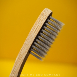 My Boo Company - Bamboo Toothbrush with charcoal bristles