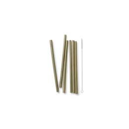 Bambu - Reusable Bamboo Straws - Set of 6 with brush