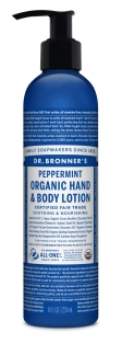 Dr Bronner's Peppermint organic lotion