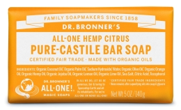 Dr Bronner's Citrus Orange Bar Soap